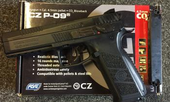 ASG CZ P-09 Duty  177 Pellet Blowback Pistol >ASG Air