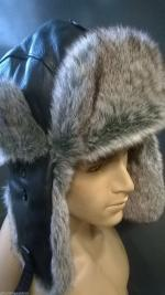 Leather Trapper Hat by Hawkins Black or Brown