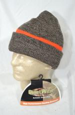GIFTS - QuietWear Reversible Knit Reversible Beanie Warm Cap Hunters Orange & Brown