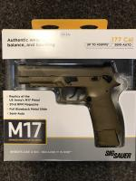 SIG Sauer M17 Pellet Pistol, Coyote Tan .177 - Could be delivered to your door if you live approx 60 miles from Skegness