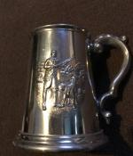 Walker & Hall Sheffield Pewter Hunting Tankard