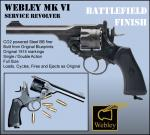 Webley MKVI Battlefield Finish Service Revolver 4.5mm CO2 Metal BB Air Pistol