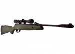 Webley Value Max .22 Air Rifle Synthetic Green Stock with Scope, Bag and Pellets.