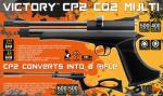 Victory CP2 Co2 Pistol / Rifle - Black .22 Cal