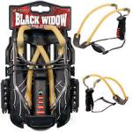 New Model Barnett Black WIDOW Folding Slingshot Catapult + Free Steel .38 Ammo